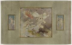 Esquisse pour le salon des Lettres de l'Hôtel de Ville de Paris : La Méditation (plafond latéral)