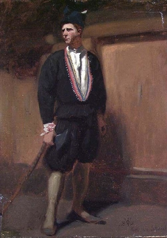 Farmer from Setesdal. Study for Fight in an old Farm House