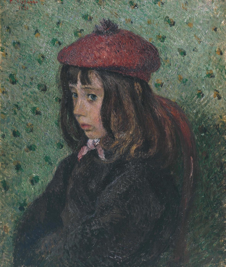 Felix Pissarro Wearing a Red Beret
