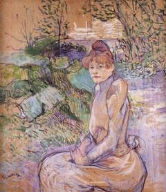 Femme dans le jardin de monsieur Forest
