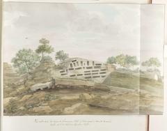 Gezicht op de muren van Agrigentum en vele rotsgraven