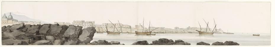 Gezicht op haven van Catanië