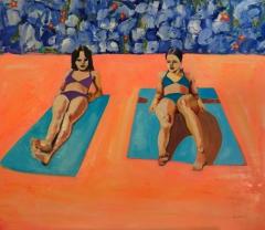 Girls Sunbathing