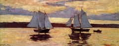 Gloucester Mackerel Fleet at Sunset