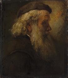 Head of a Bearded Old Man in Beret, seen in Profile
