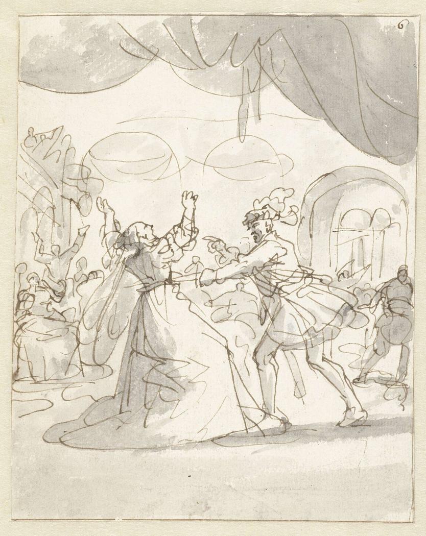 Hertogin van Bourgondië neergestoken door haar man