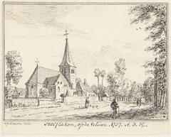 Het dorp Hoevelaken op de Veluwe