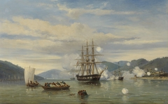 HNLMS Steam Warship Medusa Forcing Passage through the Shimonoseki Strait