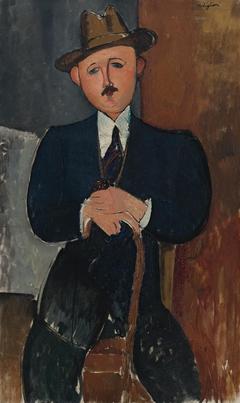 Homme assis (appuyé sur une canne)
