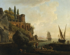 Imaginary Landscape, Italian Harbor Scene