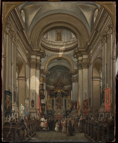 Interior of St. Peter's church in Kraków