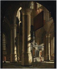 Interior of the Nieuwe Kerk in Delft with the Tomb of William the Silent