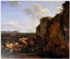 Italianate Landscape with Stubborn Donkey