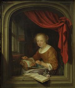 Jeune femme à sa dentelle
