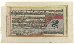 Krishna bestrijdt de slang Kaliya