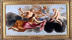 L'Amour reçoit l'hommage de Diane, d'Apollon et de Mercure