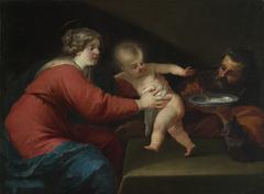 La sainte famille à la bouillie