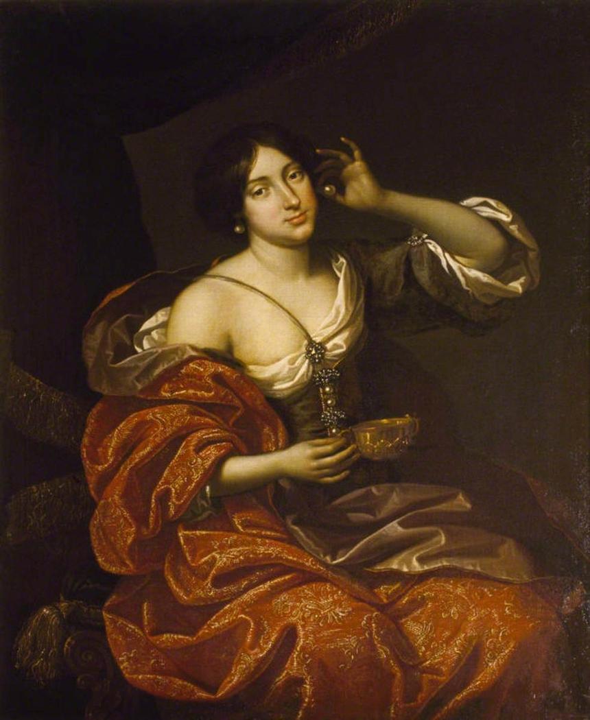 Lady Elizabeth Howard, Lady Felton (1656-1681), as Cleopatra