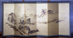 Landscape after Mi Fei (recto), Bamboo and Sparrows (verso)