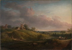 Landscape with a Church and a Mill