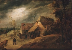 Landscape with Bowlers