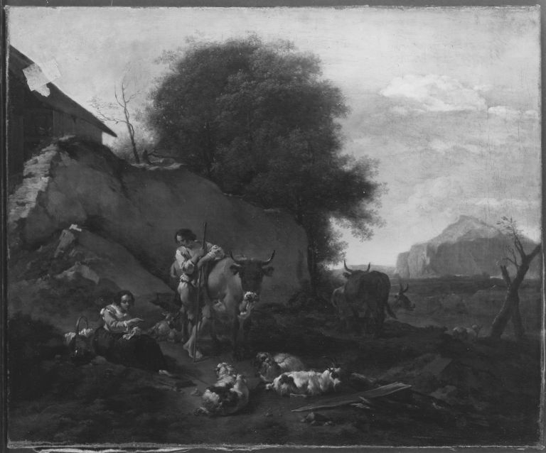 Landscape with cattle and shepherds