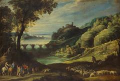 Landschaft mit Brücke