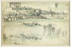 Loire-landschap met de kastelen Saumur en Montsoreau