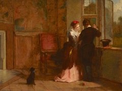 Lovers' Meeting in an Interior of Haddon Hall