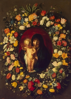 Madonna and Child in the Garland of Flowers