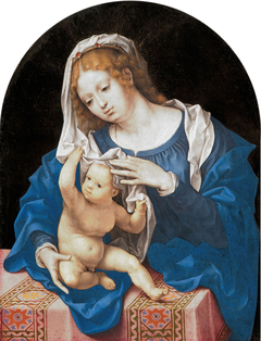 Madonna and Child Playing With the Veil