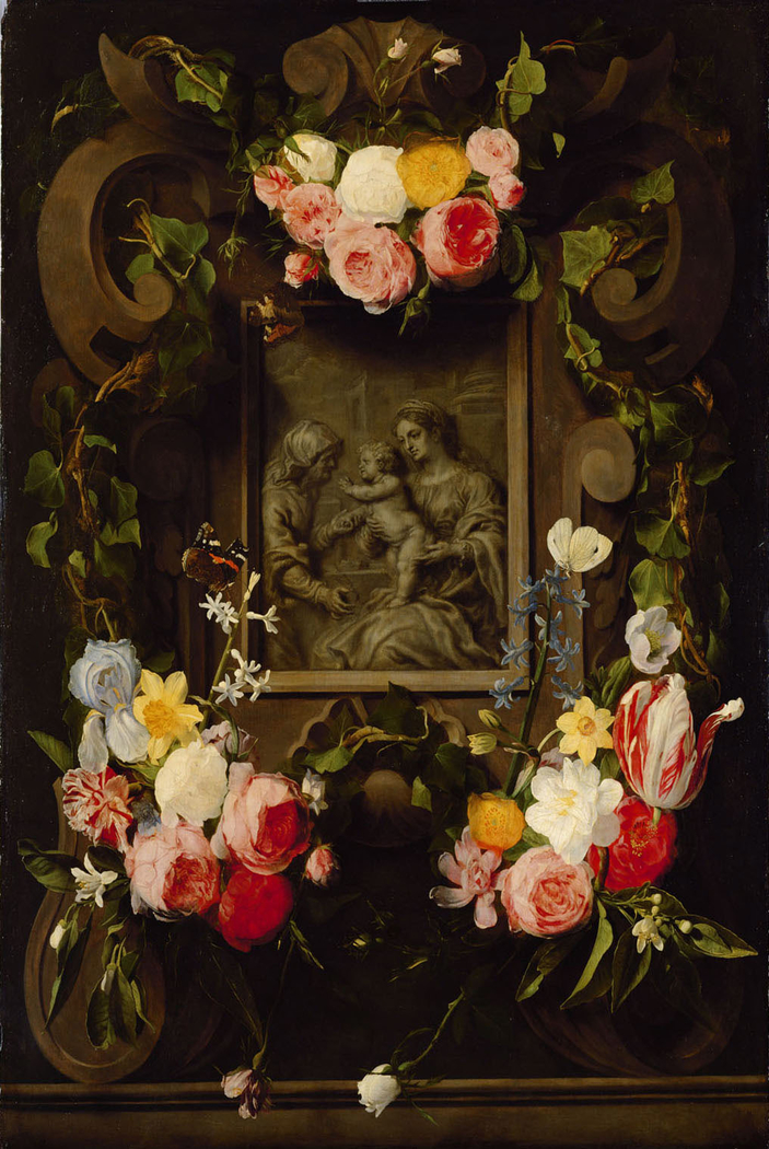 Madonna and Child with St Anna in a Flower Garland