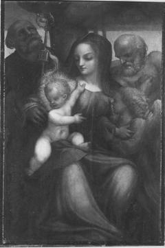 Maria mit Kind und Heiligen (Schule)