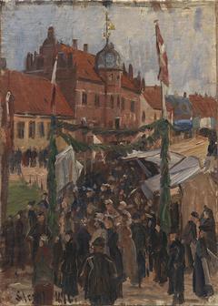 Marked på Stege Torv