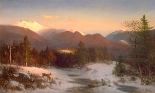 Mount Lafayette in Winter