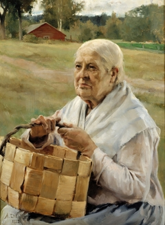 Old Woman with a Splint Basket