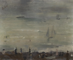 On the Beach, Dieppe, Impression Gray Sea