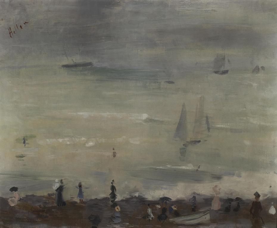 On the Beach, Dieppe, Impression Gray Sea