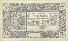 Ontwerp voor bankbiljet van 25 gulden