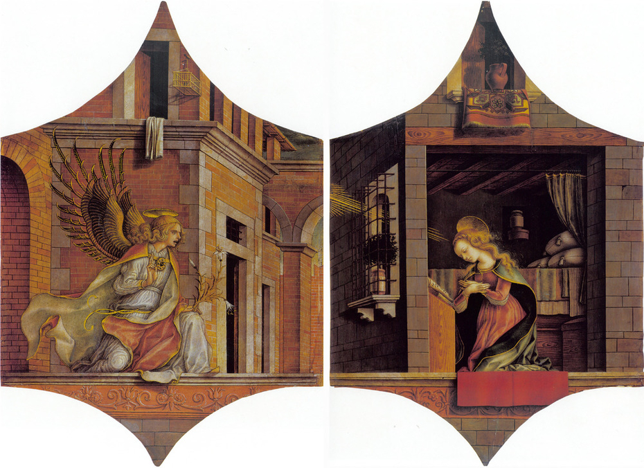 Panels of a polyptych: The Archangel Gabriel and The Virgin Annunciate
