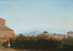 Paysage romain avec San Stefano rotondo