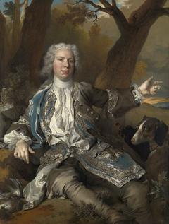 Portrait d'un homme en costume de chasseur
