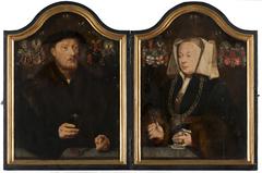 Portrait Diptych of Johann von Rolinxwerth and his Wife, Christine von Sternberg