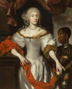 Portrait of a lady with a Moor