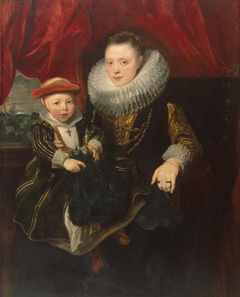 Portrait of a Young Woman with a Child