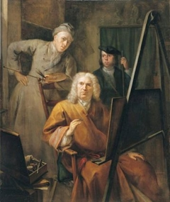 Portrait of Cornelis van Lill, his grandson and the painter himself