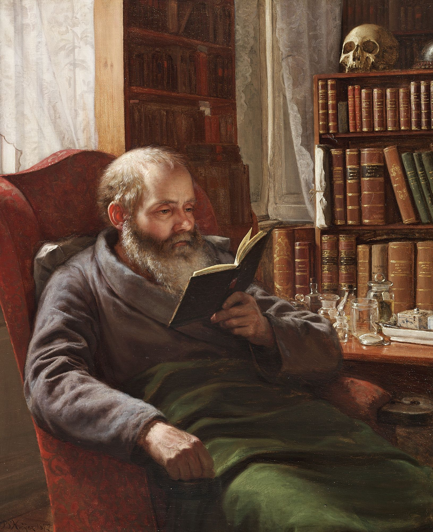 Portrait of the artist's foster father the zoologian and professor Henrik Nicolai Krøyer