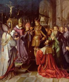 Présentation de la sainte Tunique à Charles Quint