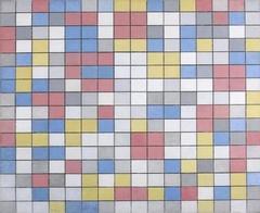 Rastercompositie 9: dambordcompositie heldere kleuren