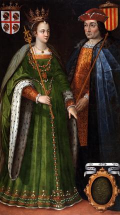 Retratos de la reina Petronila de Aragón y el conde Ramón Berenguer IV de Barcelona